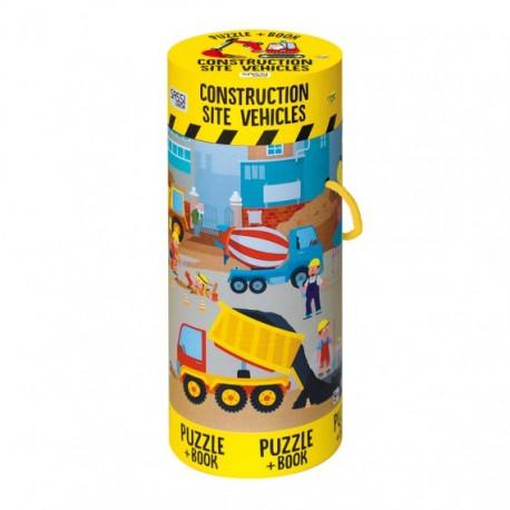 Construction Site Vehicles Book+Giant Puzzle