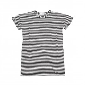 Tee dress B/W striped