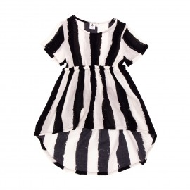 Baby doll dress - black/white stripes