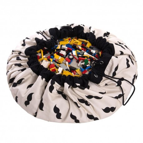 Play and go storage bag - mustache
