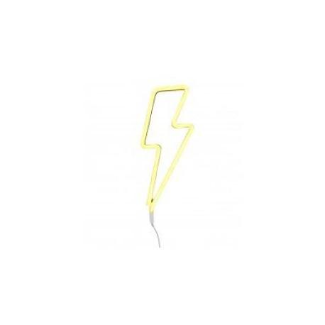 Neon style light lightning bolt