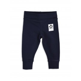 Basic newborn leggings - navy