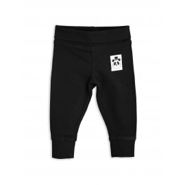 Basic newborn leggings - black
