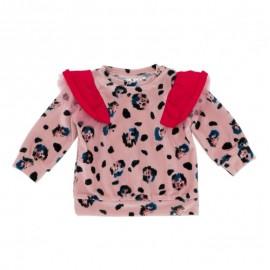 Baby Ruffle Sweater - leopard