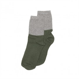 Socks- grey/duck green