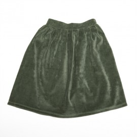 Velvet skirt - duck green