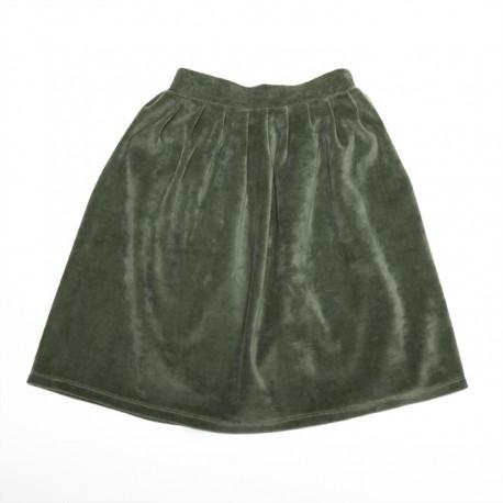 Velvet skirt - duck green