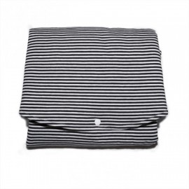 Changing mat - black/white stripes