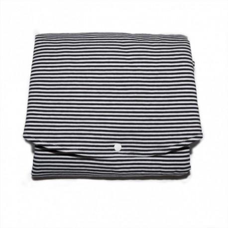 Changing mat - black/white stripes