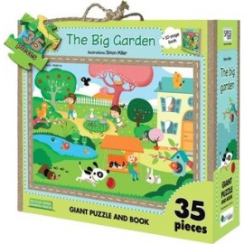 My big garden puzzle and book