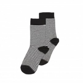 Socks- black/white stripes