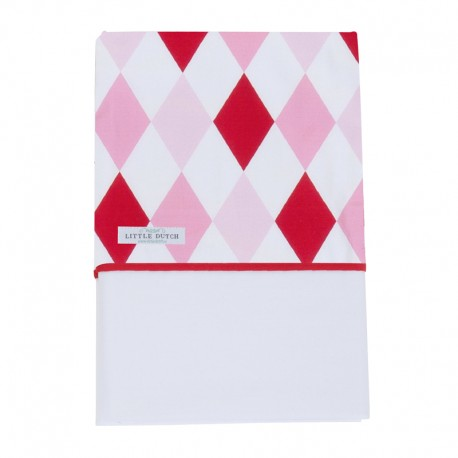 Fitted crib sheet - lozenge mint & beige