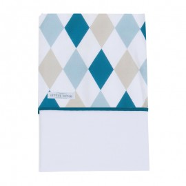 Fitted crib sheet - lozenge mint & beige