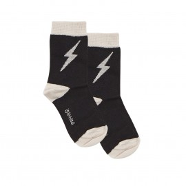 Lightning socks - grey