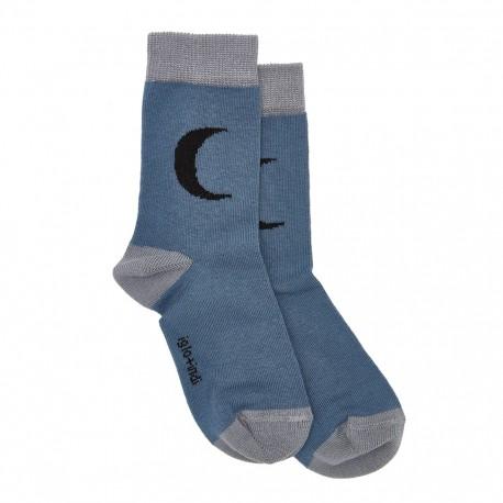 Moon socks - blue