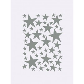 Mini Stars Wallsticker - Grey