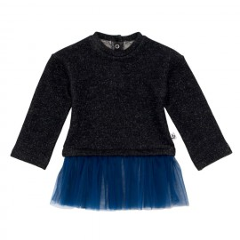 Baby sweater with tutu - grey/blue
