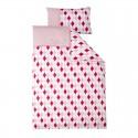 Crib duvet cover - lozenge pink & red