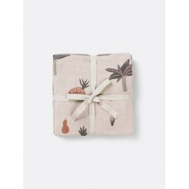 Muslin squares Fruiticana - set of 3