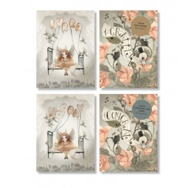 Mrs. Mighetto Greeting cards 2 pack - roses