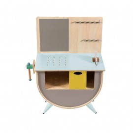 Play tool bench - warm grey