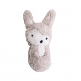 Plush rattle rabbit - feather beige