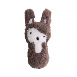 Plush rattle rabbit - soil brown