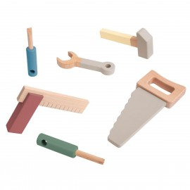 Wooden tool set - warm grey