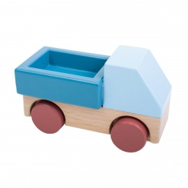 Wooden truck - stone blue