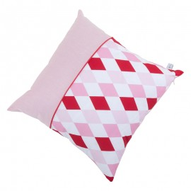 Small cushion - lozenge pink & red