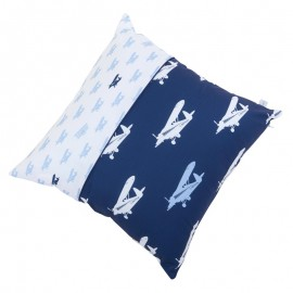 Small cushion - airplane blue