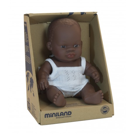 BABY DOLL AFRICAN GIRL 21CM