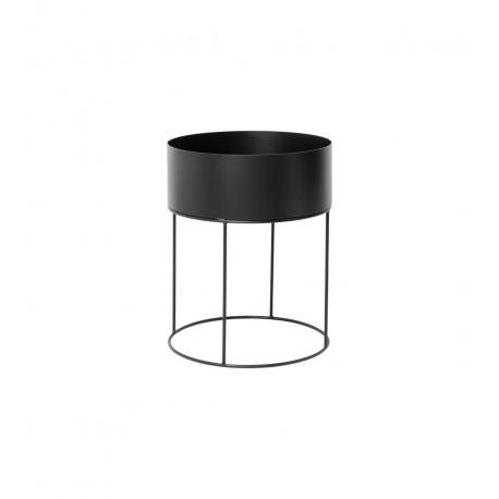 Plant box round - black
