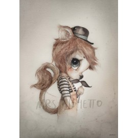 "Mrs. Mighetto 50X70"" Mr Elliot"" print"