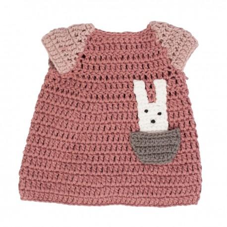 Dolls clothing - dress - pink