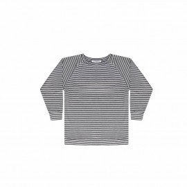 Long sleeved tee - black and white stripes